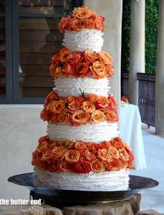 This gorgeous collection of wedding cakes from The Butter End Cakery has so much steal-worthy inspiration. Take a look and happy pinning!