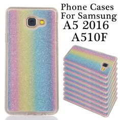 Protective Soft TPU Colorful Cute Rainbow Smart Mobile Phone Back Cover Case Shell For Samsung Galaxy A5 2016 A510F Covers Cases
