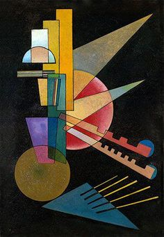 Accent in Pink 1926 Kandinsky Poster Canvas Picture Art Print Premium A0 A4