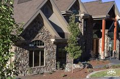 Beautiful custom home featuring our @gsharrisco Granite (Color: Summit)  ----- www.KodiakMountain.com  ----- #KodiakMountainStone  #HomeBuilder #NewConstruction #CustomHome #contractor  #GeneralContractor #DreamHome #Luxury #LuxuryHome #DesignBuild Stone Gallery, Manufactured Stone, Granite Colors, Stone Veneer, Stone Work, New Construction, Home Builders, Building Design, Custom Homes