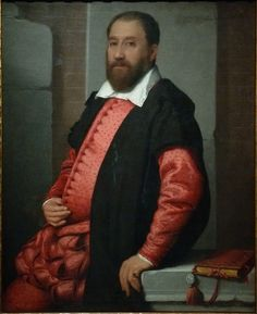 "MORONI Giovanni Battista,1575 - Portrait de Jacopo Contarini (Budapest) - 0 - TAGS - art painter details détail détails detalles painting paintings peinture peintures 16th 16e ""peinture 16e"" ""16th-century paintings"" ""16th century"" ""details of painting"" ""details of paintings"" tableaux paintings Budapest Hongrie Hungary livre book cuir leather reliure binding "" red ""reliure rouge"" rouge ""red binding"" notable dignitaire dignitary bigwig homme man"
