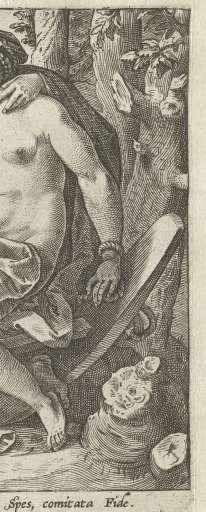 Hoop en Vertrouwen (Fidutia / Spes), Hendrick Goltzius, 1580 - 1584 - Rijksmuseum