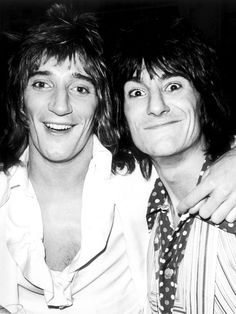 Rod Stewart With Ronnie Wood in December 1974