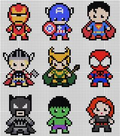 Perler beads or cross stitch