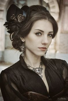 Beautiful steampunk woman