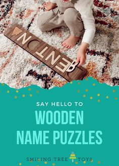 Personalized wood name puzzles are favorite gifts among toddler boys and girls alike. These keepsake wooden toys are educational, fun, and made in the USA from sustainable resources. That's gifting you can feel good about! Childrens Gifts, Toddler Gifts, Toddler Boys, Gifts For Kids, Name Puzzle, Wood Names, Say Hello, Wooden Toys, Puzzles