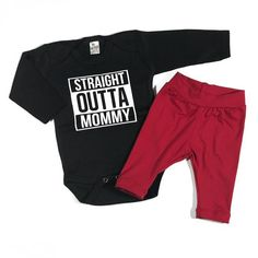 Long sleeve black bodysuit with white vinyl and red leggings. This adorable  handmade set will 51ab81d801ba