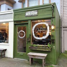 neighborhood coffee shop vibes, petite and cute in #sf