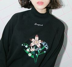 floral turtleneck jumper!