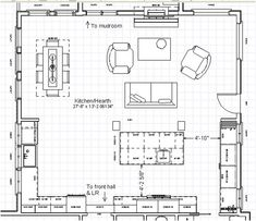 kitchen/hearth room layout--MUST have a hearth room some day!!!!