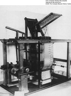 The binary principle embodied in the punched-card operation of the loom was inspiration for the data processing machines to come. (Image courtesy of The Computer History Museum, www.computerhistory.org)