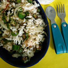 Okra/ Ladies Finger Fried Rice, How to make Okra/ Ladies Finger Fried Rice