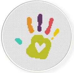 FREE for Feb 19th 2015 Only - Love Hand Print Cross Stitch Pattern