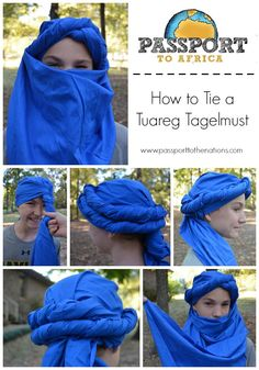 How to tie a Tuareg Tagelmust