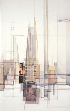 Richard Ferrier | Angels in the Architecture | 2003 Detail: watercolour, graphite, bass wood, vellum, photographic images.