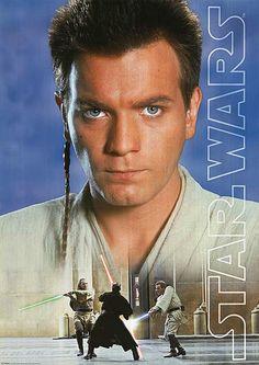 Star Wars; A very young Obi-Wan Kenobi. Jedi Padawan in.The Phantom Menace. (Ewan McGregor).