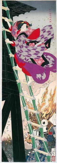 """Enlarged image of Onana Yaoya ( """"Sho Chiku Bai YuShima Kakegaku"""", Yoshitoshi image)"""
