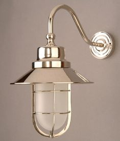 N448w Nickel Solid Brass Outdoor Wheelhouse Lamp from Lights 4 Living