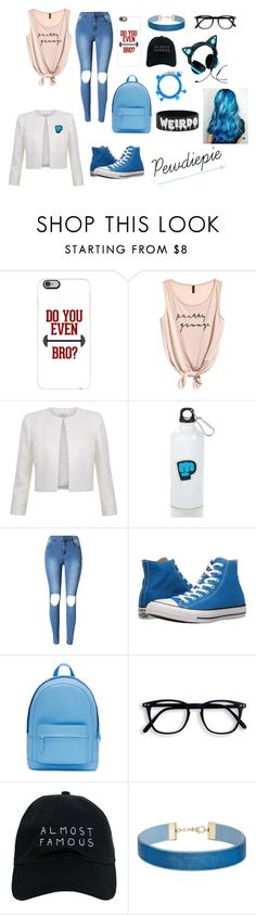 """""""Pewdiepie"""" by lizzeleheart ❤ liked on Polyvore featuring Casetify, Converse, PB 0110, Nasaseasons, Brookstone, Miss Selfridge and Shashi"""