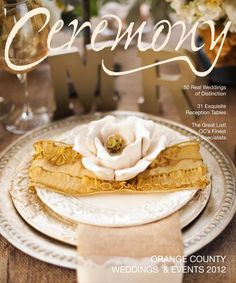Our TOP 5 Hotlist Pro, Table7 Events, Inc., @Stephanie Hassan  Her table design (along with Jenny B. Floral Design) made the cover of  @Ceremony Magazine . Photo credit also goes to another TOP5 Pro, Studio EMP Inc. -Photography, @Joel Maus