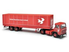 This Scania 110 and Tilt Trailer (British Road Services) Diecast Model Lorry is Red and features working wheels and also opening trailer doors. It is made by Corgi and is 1:50 scale (approx. 30cm / 11.8in long).    British Road Services (BRS) was formed following the nationalisation of Britain's road haulage industry, under the British Transport Commission, as a result of the Transport Act 1947.  The nationalised operation managed to create a strong and viable transport network with iconic…