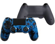 Blue Fire Custom PlayStation 4 Pro Controller Featuring Pro Buttons