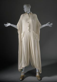 Woman's jumpsuit | Issey Miyake | Japan, 1976 | Materials: rayon and linen | Los Angeles County Museum of Art, LACMA