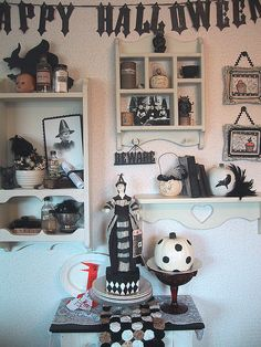 Black and cream decorations for Halloween 07 003 by bewitchedmagic, via Flickr