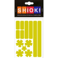 #shiok! #becomevisible! #retro-reflective #cycling #outdoor #sticker #bike I 9.95 EUR (incl. VAT) Cycling, Stripes, Bike, Stickers, Retro, Frame, Outdoor, Bicycle, Picture Frame