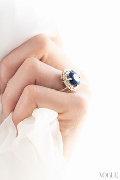 Candice Lake's engagement ring. Photographed by Stefano Moro Van Wyk