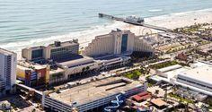 Hilton Daytona Beach Resort/Ocean Walk Village Hotel, FL - West Side With Pier