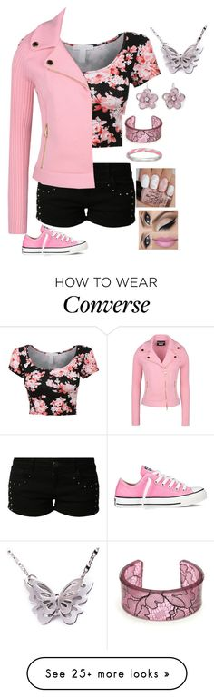 """""""Like I'll Never Love You Again"""" by dragongirl145 on Polyvore featuring even&odd, Boutique Moschino, Mixit and Converse"""