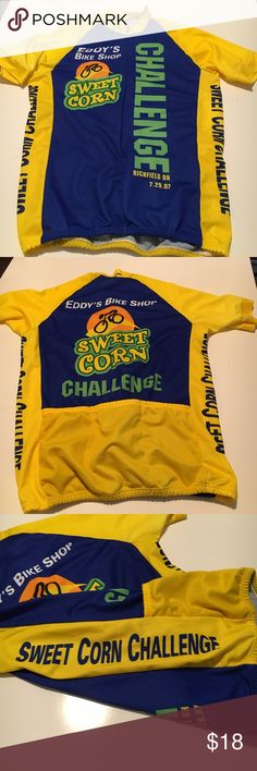 026d7694512 Cycling rash guard with Cleveland Ohio businesses Cycling rash guard with  Cleveland Ohio businesses in bright