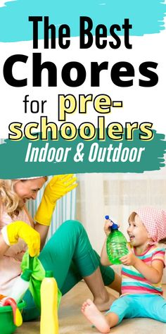 A list of chores for preschoolers to do around the house and outdoors. Learn the best age to start chores and keep your child motivated. Chores for kids are amazing way how to keep them busy and capable, so this list will work perfectly if you want to teach your kid how to be responsible! #choresforkids #ageappropriatechoresforkids Chores For Kids By Age, Age Appropriate Chores For Kids, Chore Checklist, Chore List, Reward And Recognition, Kids Rewards, Charts For Kids, Household Chores, Outdoor Toys
