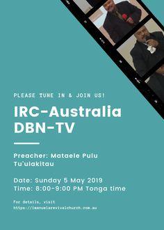 IRC-Australia DBN-TV Sunday 5 May 2019 – Mataele Pulu Tu'ulakitau – Facebook Ad