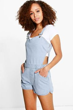 862131ae61c Sydney Sweetheart Bib Denim Dungaree Shorts