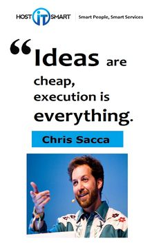 Golden words by Chris Sacca investor, company advisor, and entrepreneur.