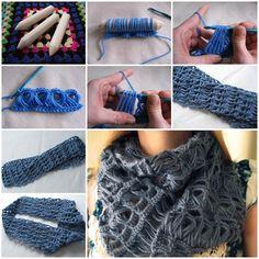 DIY con estilo del palo de escoba de encaje bufanda 1