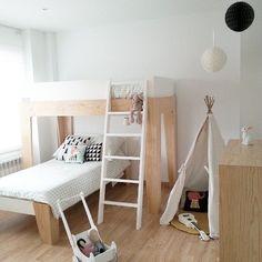 Oeuf kids room modern interior design minimal children furniture cool bunk bunked