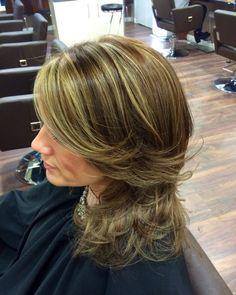 Brunette & blonde highlights