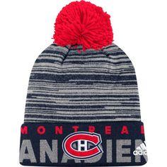 913dc07af adidas Men s Montreal Canadiens Locker Room Navy Pom Knit Beanie