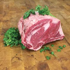 A healthy Prime Rib Roast hand cut by an expert butcher to make your (or someone special's) holiday a culinary success. The bone has been removed carefully but tied back on to maximize flavor. Cut the