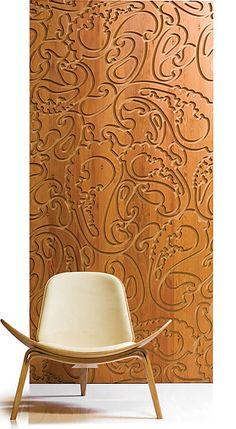 Beautiful wood panels - just add pewter.