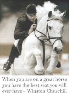 Winston Churchill, a true horse lover.