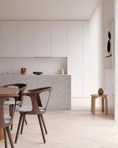 Minimalist Home Furniture, Minimalist Bed, Minimalist Home Interior, Nordic Interior, Large Round Dining Table, Solid Wood Dining Table, Mid Century Modern Furniture, Decoration, Furniture Design