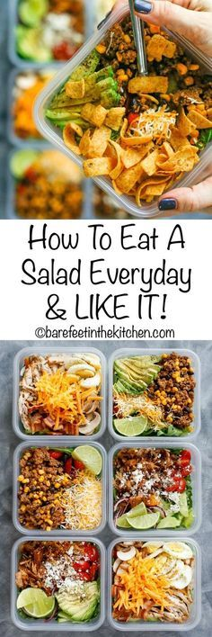How To Eat Salad Everyday & LIKE IT! (aka the Fritos everyday diet!) get the recipes at barefeetinthekitc...