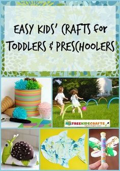 UPDATED! 38 Easy Kids' Crafts for Toddlers and Preschoolers