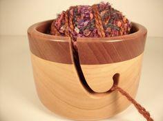 Handmade+wooden+yarn+bowl+/+knitting+bowl+by+alamocrafter+on+Etsy,+$40.00