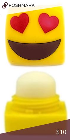 Signature Emoji Balm  New List  Emoji Lip Balm, French Vanilla w/ Vit E .25 Ounces. Suitable for youth!   .Ask About Custom Bundles.  .Poshmark Rules Only. No Trades.  .Additional Pics Available as Time Allows. Makeup Lip Balm & Gloss