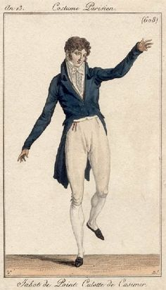Men's outfit with cashmere breeches, 1806.